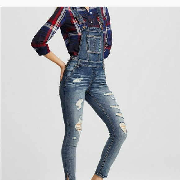 76d15842615 NEW DOLLHOUSE SKINNY STRETCH OVERALLS